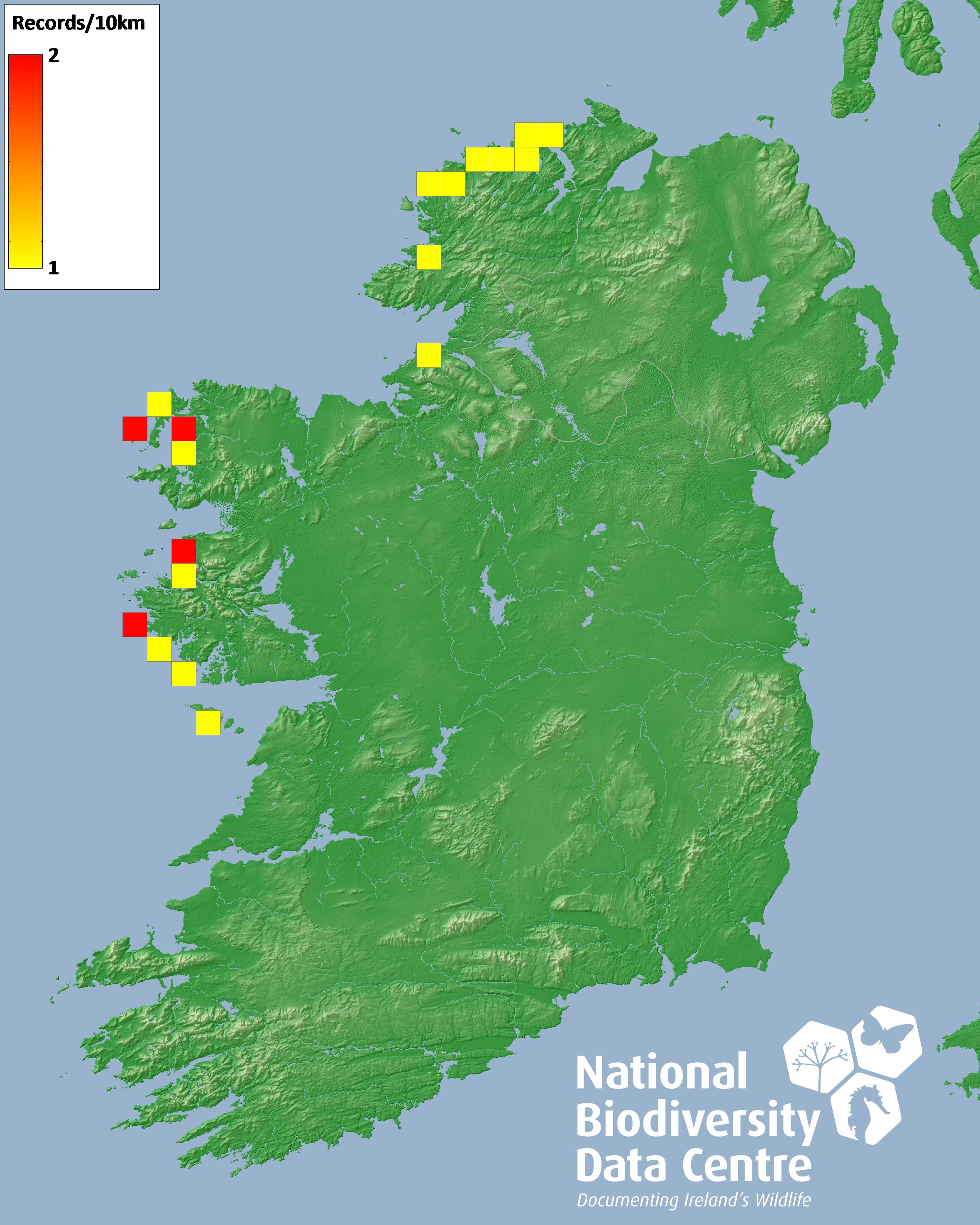 Map Of North West Ireland.Northern Lapwing Vanellus Vanellus Detail Biodiversity Maps